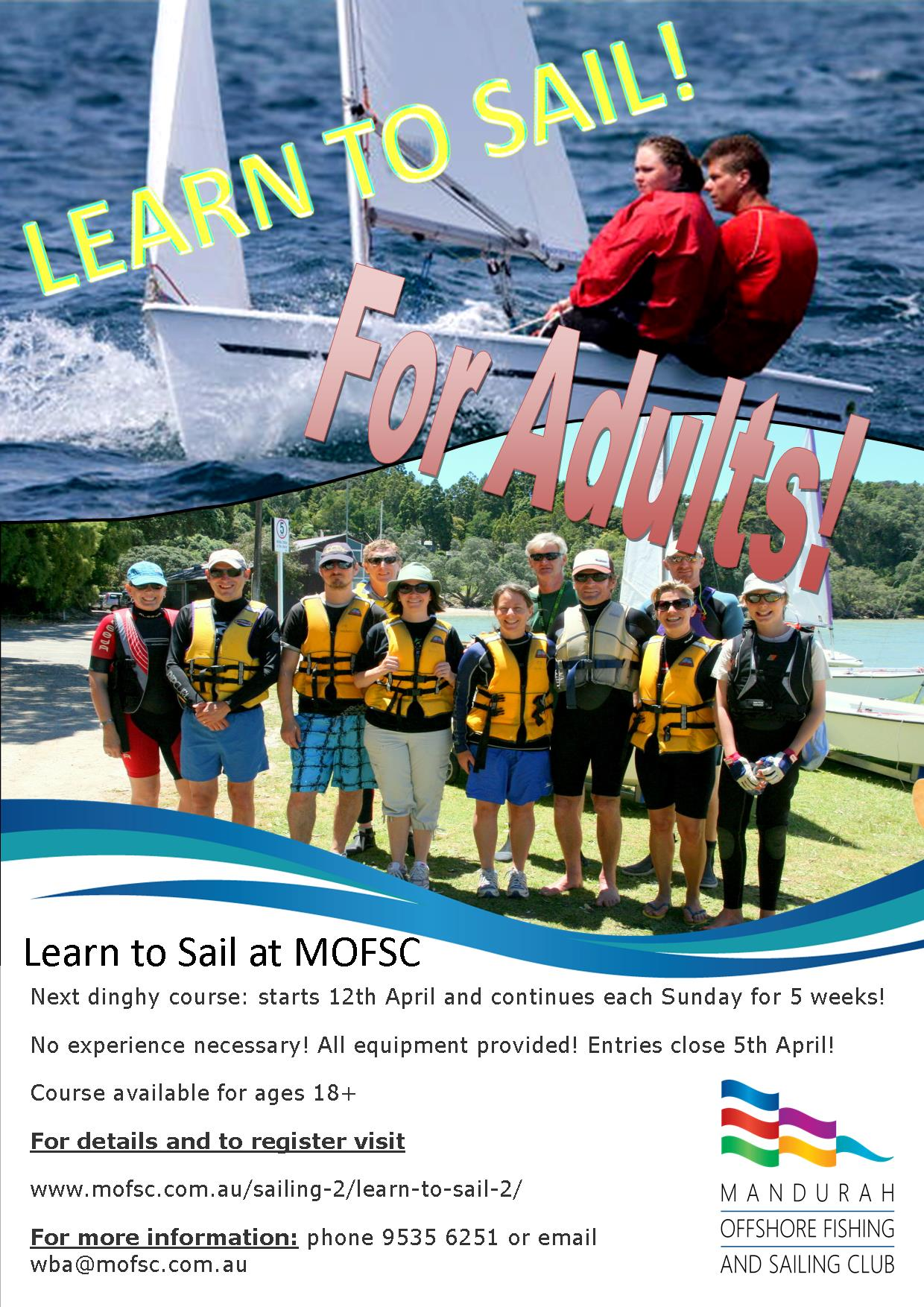 Learn to Sail for Adults- dinghy
